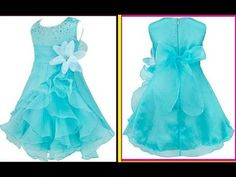 How to make quinceanera ruffled organza dress with rhinstones & Hand mad. Baby Girl Frocks, Frocks For Girls, Little Girl Dresses, Girls Dresses, Frock Patterns, Kids Dress Patterns, Kids Frocks Design, Baby Frocks Designs, Long Gown Pattern