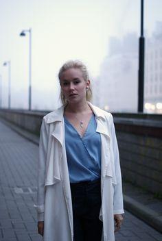 White coat & blue blouse