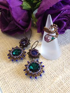 earrings with ring wire