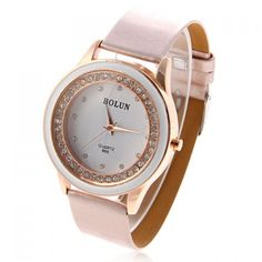 d445ecab366 Fashionable Bolun 12 Dots Hour Marks Quartz Watch with Rubber Wristband and  Rhinestones Decoration B609 (
