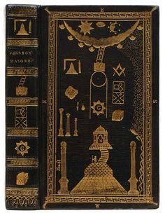 Illustrations of Masonry by William Preston, edition, Masonic binding by John Lovejoy. Best Book Covers, Vintage Book Covers, Beautiful Book Covers, Book Cover Art, Book Cover Design, Vintage Books, Book Design, Book Art, Tarot