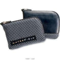 Waterfield Wallet - compact, sleek.    http://www.sfbags.com/products/wallets/wallets.htm