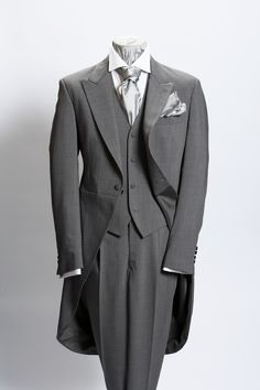 Grey morning suit! except with a different colored/textured vest and perhaps an ascot.