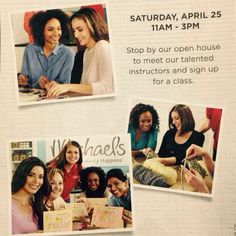 April 25th, 2015 in Regina at the Michael's Craft Store, register for as many fine art classes as you like at 50% off registration! To view all the upcoming classes go to http://www.nikkisportraits.com and click events then click on the image that interests you to bring up the full calendar of images.