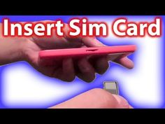 ▶ How To Insert Sim Card In iPhone 5c And How To Remove It - YouTube