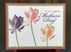 Mothers Day Card, Stampin Up Card, Handmade Card, Happy Mothers Day Card, Card for Mom, Greeting Card, Flower Card, Stampin Up Mothers Day