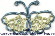 Tatting Tales ~ All things Tatting (It's an obsession): Free Butterfly tatting pattern by Sherry Pence....HOPE