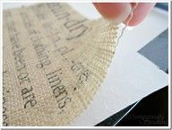 Run burlap through your printer!  Tutorial at www.domestically-...  #tutorial #tips #tricks #burlap #printer #words #message #sayings #craft #diy