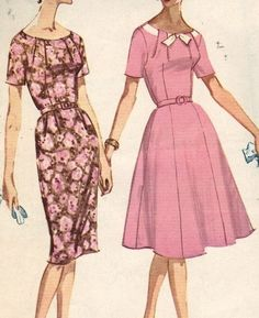 McCall 5876 Dress 1960s 60s  Sewing Pattern by EleanorMeriwether
