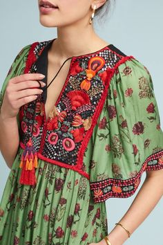 Basil Embroidered Dress