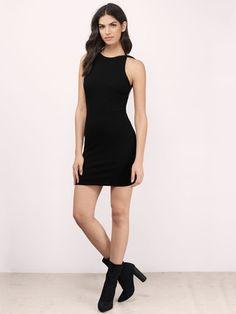 Black Sexy Backless Dress