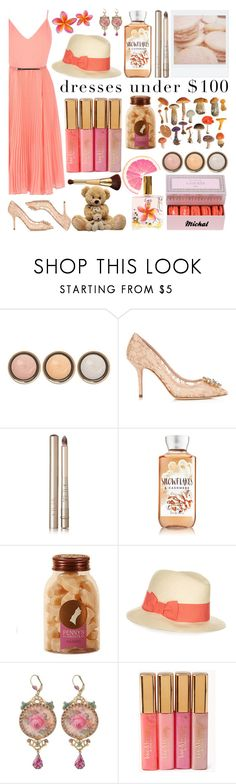 """""""Dresses Under $100"""" by michal100-15-4 ❤ liked on Polyvore featuring By Terry, Dolce&Gabbana, Polaroid, Ilia, Monsoon, Michal Negrin, Lucy B., Forever 21, tarte and under100"""