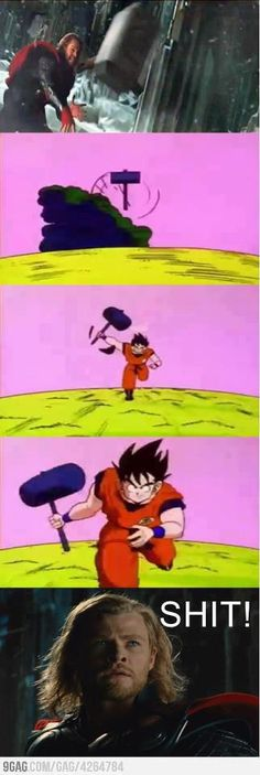 Take that Thor! Dragon Ball Z!