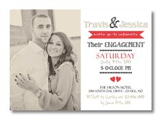 Printable Engagement Invitation by PerfectlyPrintables on Etsy, $18.00