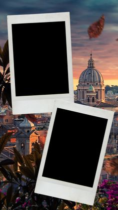 Leaves Wallpaper Iphone, Flower Background Wallpaper, Instagram Frame Template, Polaroid Template, Photo Collage Template, Kodak Film, Aesthetic Pastel Wallpaper, Instagram Blog, Photo Backgrounds