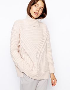 ASOS Cable Jumper With Turtle Neck