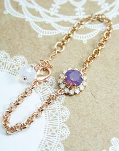 Crystal bracelet | bridesmaid gift | flower girl bracelet | swarovski crystal bracelet | opal bracelet | rose gold bracelet | www.endorajewellery.etsy.com