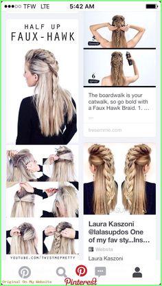 Haarschmuck Diy - Getting this done today! Haarschmuck Diy - Getting this done today! # how to do viking Braids Haarschmuck Diy - Getting this done today! Braided Hairstyles Tutorials, Pretty Hairstyles, Curly Hairstyles Tutorial, Easy Diy Hairstyles, Braided Hairstyles For Long Hair, Long Hair Mohawk, Banana Clip Hairstyles, Rope Braid Tutorials, Wedding Hairstyles
