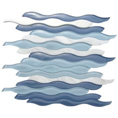 Allure Waterscape Glass And Marble Tile - contemporary - Tile - Glass Tile Store Splashback Tiles, Mosaic Wall Tiles, Marble Mosaic, Mosaic Glass, Kitchen Backsplash, Blue Glass Tile, Glass Tiles, Contemporary Tile, Contemporary Bathrooms