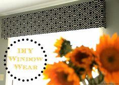 Eating in the Shower: DIY Window Wear