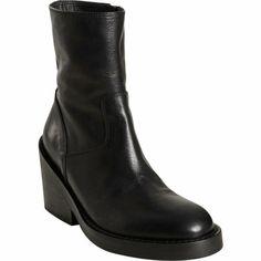 Ann Demeulemeester Chunky Heel Ankle Boot at Barneys.com