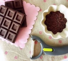If you don't have any chocolate sprinkles, improvise with a chocolate bar and a potato peeler to create shavings. | 17 Crazy Kitchen Hacks You Have To Try