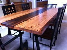 Wood from 100 yr old barn (h/t: Salvage Works, Legs from @Etrine. Sanding / Finish from me.