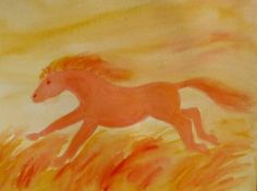 horse - watercolour