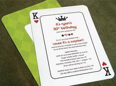 His Birthday Poker Party Invitation {www.paisleyprintsetc.com}