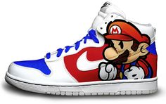Paper Mario Custom Nike Dunks