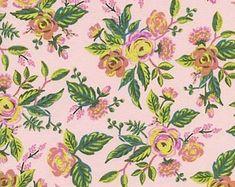 Rifle Paper Co. Jardin de Paris Peony Menagerie Collection Cotton + Steel Fabric Anna Bond Pink Floral Classic Floral Design Fabric