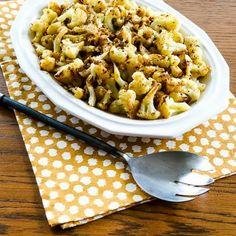 Cauliflower with Garlic and Lemon Recipe Side Dishes with cauliflower, salt, extra-virgin olive oil, minced garlic, lemon, ground pepper, salt