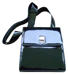Stuart Weitzman black patent purse from the early 1990's. I used to have one similar from that time, with just the flap being patent, and the bottom matte leather.