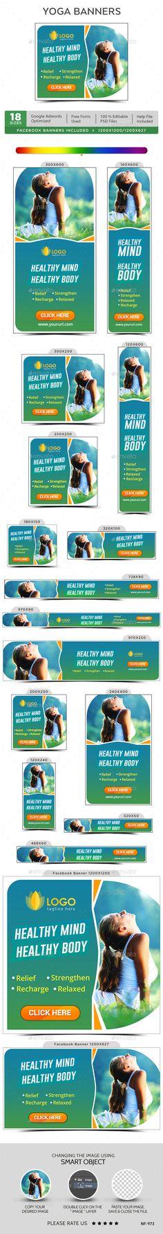 Yoga & Meditation Web Banners Template PSD. Download here: http://graphicriver.net/item/yoga-meditation-banners/15023055?ref=ksioks