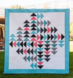 """Every Which Way quilt, 74 x 74"""", free pattern at Riley Blake Designs (PDF download)"""