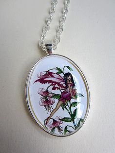 Hey, I found this really awesome Etsy listing at https://www.etsy.com/listing/201155078/fairy-tigerlily-necklace-by-amy-brown