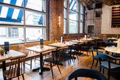 White Glazed brick-tiles used in the Albert Schloss bar/restaurant
