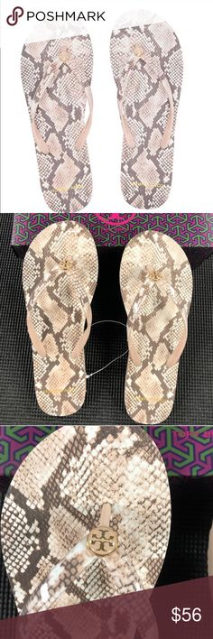 Tory Burch Hicks Garden Flip Flops Ballet Pink  Authentic Tory Burch Hicks Garden Flip Flops -9985