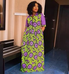 Image may contain: 1 person, standing Long African Dresses, Ankara Short Gown Styles, African Print Dresses, African Fashion Dresses, African Wear, Fashion Wear, Skirt Fashion, Fancy Wedding Dresses, Ankara Skirt And Blouse