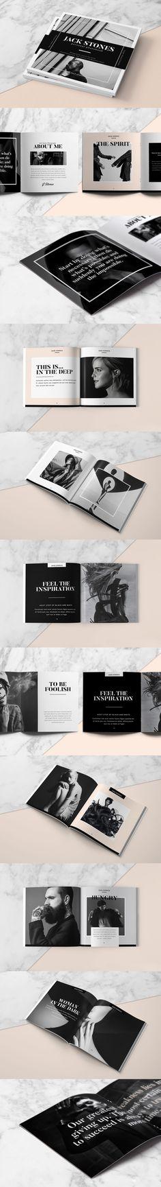 Square Portfolio Book Brochure Template INDD                                                                                                                                                                                 More