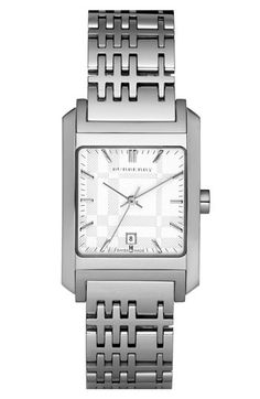Burberry square case watch