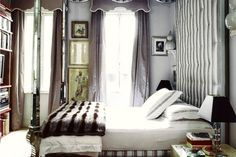 Miles Redd bedroom canopy bed cornice