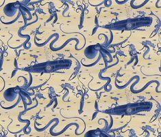 The not so Deep Deep Depths fabric by ceanirminger on Spoonflower - custom fabric