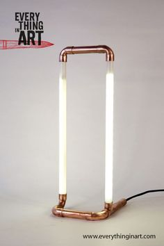 Copper pipe lamp and led tube Available on everythinginart.com: