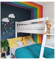 Kids Bedroom Paint, Cool Kids Bedrooms, Painting Kids Rooms, Childrens Bedroom Ideas, Boys Room Paint Ideas, Kids Bedroom Ideas For Girls Toddler, Boy Room Paint, Kids Bedroom Furniture, Rainbow Room Kids