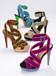 Jessica Simpson Multi Strap Sandal $98 tried on the purple ones at Dillard's the other day. To die for!!