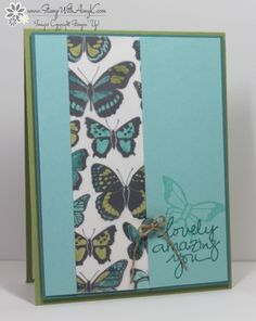 Stampin' Up! Lovely Amazing You With Vellum Butterflies – Stamp With Amy K Some Cards, Butterfly Cards, Animal Cards, Card Sketches, Paper Cards, Stampin Up Cards, Making Ideas, I Card, Cardmaking