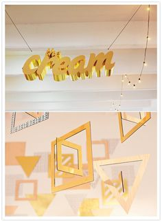 The Cream NYC- large 3d letters