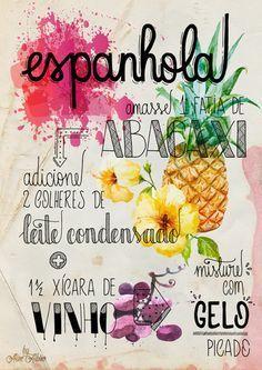 poster - Espanhola Bar Drinks, Cocktail Drinks, Alcoholic Drinks, Beverages, Cocktails, Getting Drunk, Bartender, Wines, Food Porn
