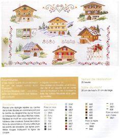 Alpine cross stitch pattern